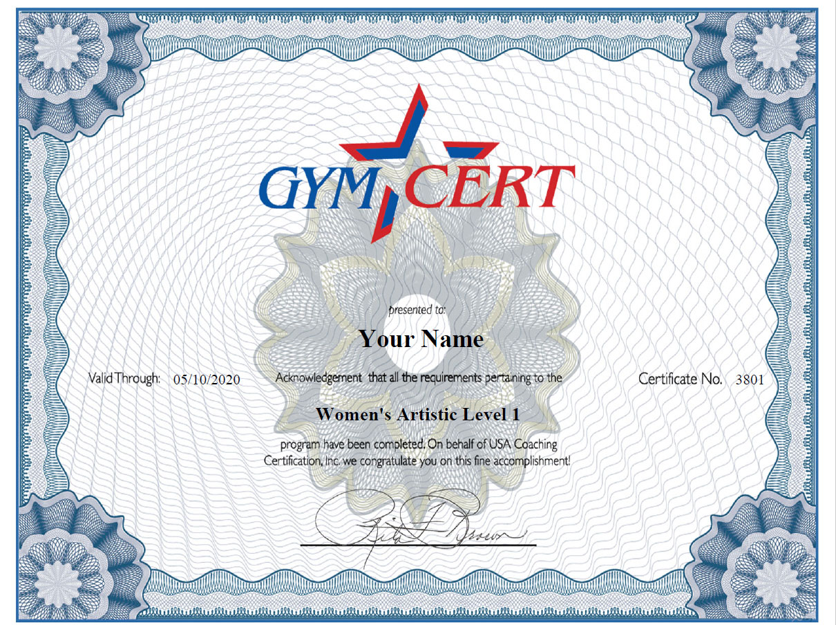 Gymcert course preview sample certificate 1betcityfo Image collections